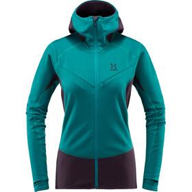 Haglöfs W's L.I.M Touring Hood Jacket Alpine Green/Acai Berry
